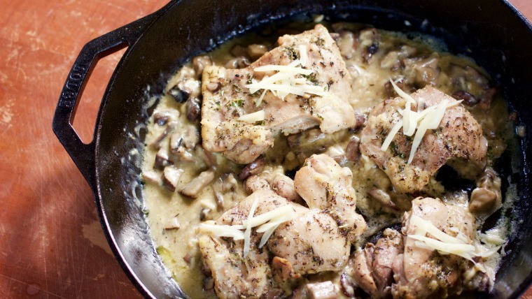 mushroom and swiss chicken