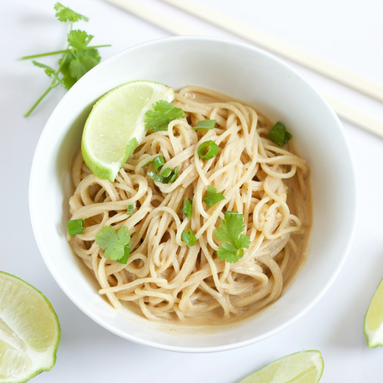 Easy Peanut Noodles (Cold) [Vegan, GF, DF]