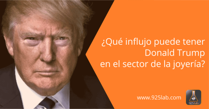 Donald Trump sector joyería