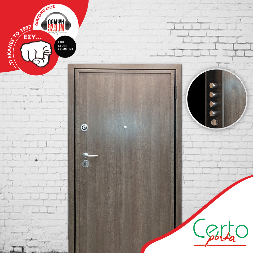 Contest with gift security door by Lampsi FM 92,9