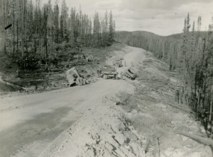 845png 770 340th Engineers march on road 93rd built to Teslin River