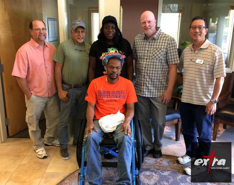 Folks from the Free Wheelchair Mission