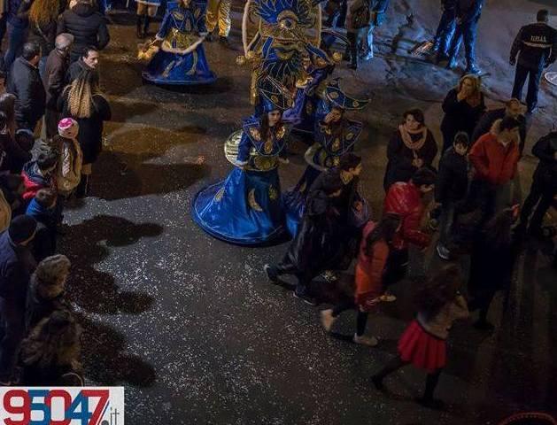 A causa del maltempo, è stata annullata la sfilata di Carnevale di domenica