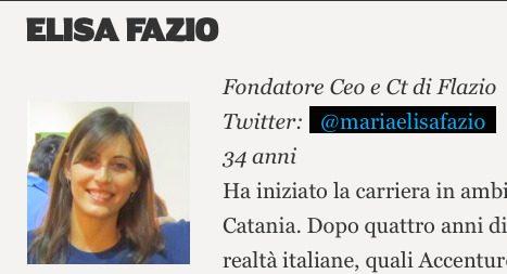 C'è anche la paternese Elisa Fazio tra le 15 figure femminili più influenti d'Italia