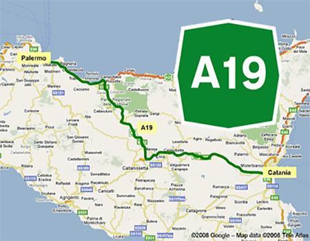 A19 Pa-Ct una carreggiata dell'autostrada Palermo-Catania chiusa ad Enna