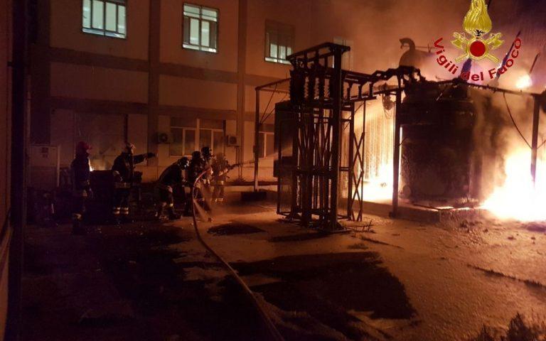 CATANIA: In fiamme trasformatore dell'Enel, al buio il centro storico – LE FOTO