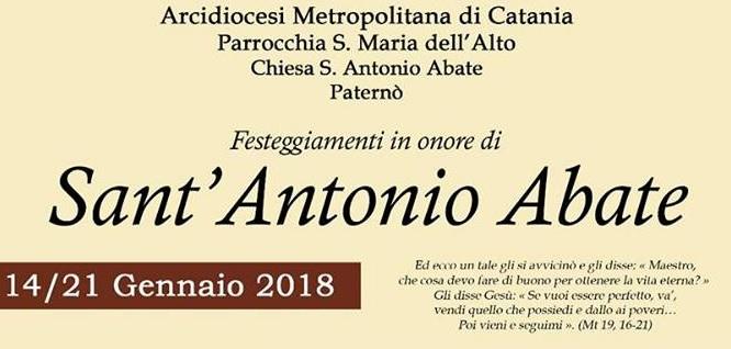PATERNO': Domani la benedizione degli animali in piazza Vittorio Veneto