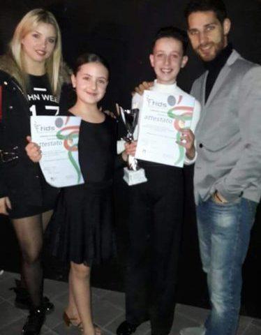 """PATERNO': Ottimo risultato per la """"piccola coppia"""" Matteo e Kerol"""
