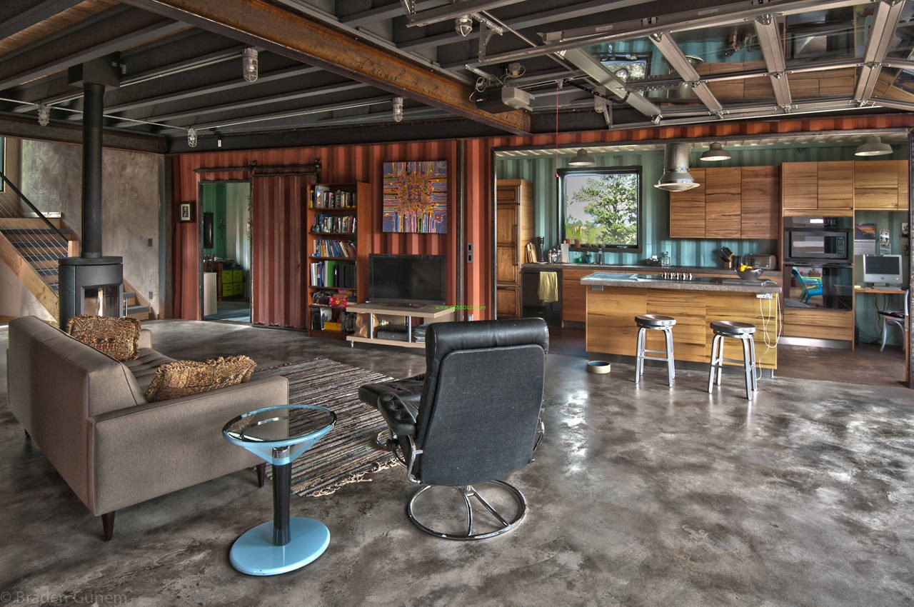 Best Kitchen Gallery: Shipping Container Home Inside of Shipping Container Living Quarters on rachelxblog.com
