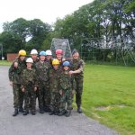 The Cadets just after finishing the obstacle course