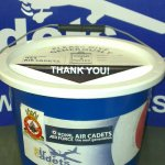 One of the Squadron's Collecting Buckets