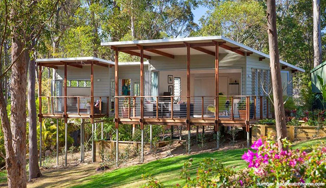 7 Desain Rumah Panggung Modern Nomor 3 Bebas Banjir