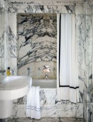Beautiful Black And White Shower Curtains Design Ideas 03