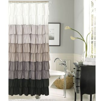 Beautiful Black And White Shower Curtains Design Ideas 72