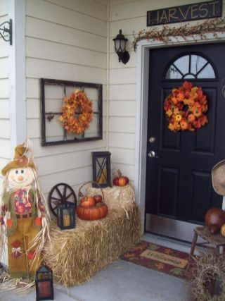 Easy But Inspiring Outdoor Fall Decoration Ideas 18