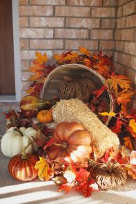 Easy But Inspiring Outdoor Fall Decoration Ideas 24
