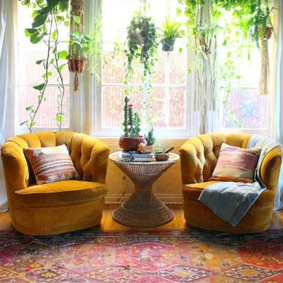 Modern Rustic Bohemian Living Room Design Ideas 50