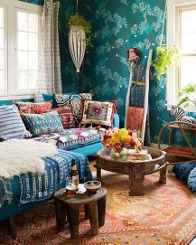 Modern Rustic Bohemian Living Room Design Ideas 83