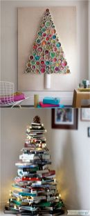 Space Saving Christmas Tree Ideas Suitable For Small Rooms 31