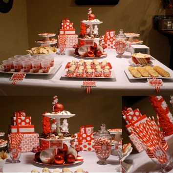 Beautiful Red Themed Kitchen Design Ideas For Christmas 30