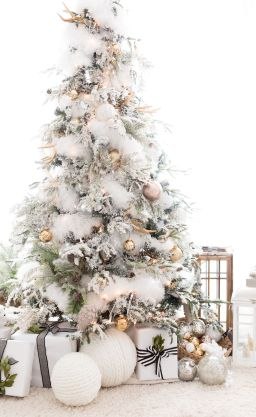 Elegant White Vintage Christmas Decoration Ideas 70