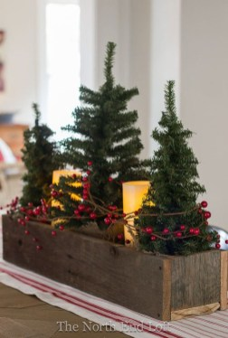 Elegant And Beautiful Tabletop Christmas Tree Centerpieces Ideas 10