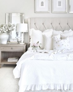 Modern And Elegant White Master Bedroom Decoration Ideas 83