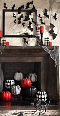 Scary But Classy Halloween Fireplace Decoration Ideas 07