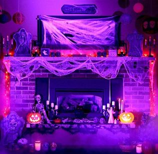 Scary But Classy Halloween Fireplace Decoration Ideas 14