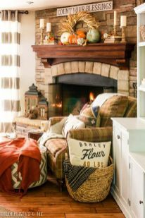 Scary But Classy Halloween Fireplace Decoration Ideas 15