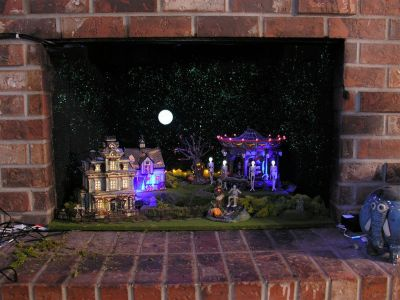Scary But Classy Halloween Fireplace Decoration Ideas 55