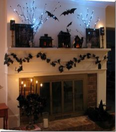 Scary But Classy Halloween Fireplace Decoration Ideas 79