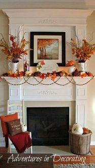 Scary But Classy Halloween Fireplace Decoration Ideas 81
