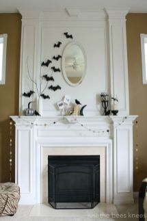 Scary But Classy Halloween Fireplace Decoration Ideas 86