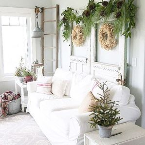 Stunning White Vintage Christmas Decoration Ideas 28
