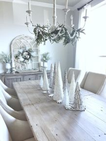 Stunning White Vintage Christmas Decoration Ideas 74
