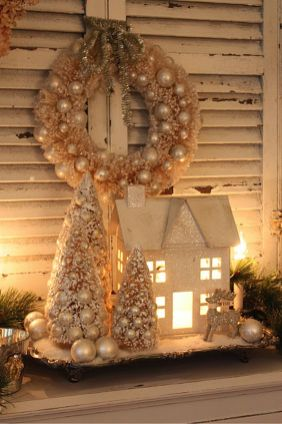 Stunning White Vintage Christmas Decoration Ideas 77