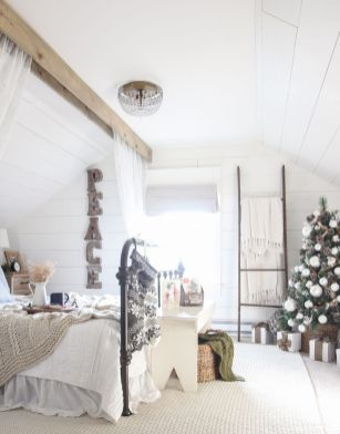 Stunning White Vintage Christmas Decoration Ideas 95