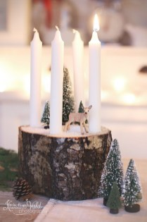 Romantic Christmas Centerpieces Ideas With Candles 15
