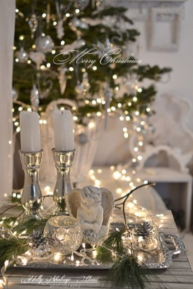 Totally White Vintage Christmas Decoration Ideas06