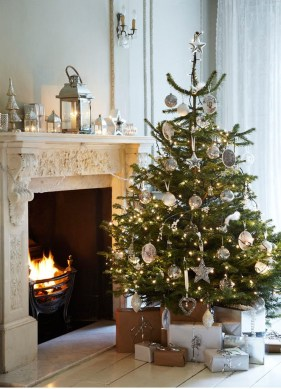 Totally White Vintage Christmas Decoration Ideas36