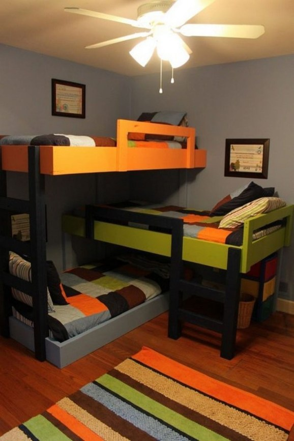 Cool And Functional Built In Bunk Beds Ideas For Kids31