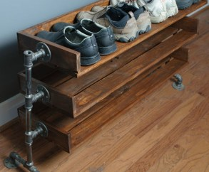 Creative Diy Industrial Shoe Rack Ideas 10