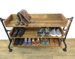 Creative Diy Industrial Shoe Rack Ideas 22