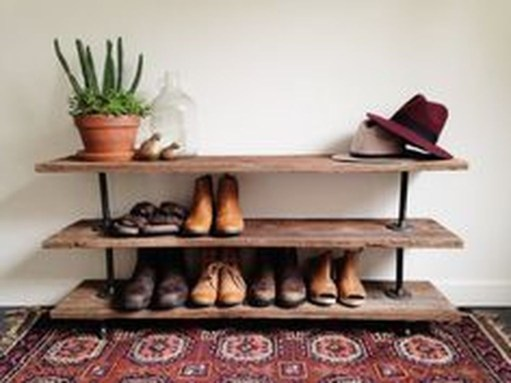 Creative Diy Industrial Shoe Rack Ideas 33