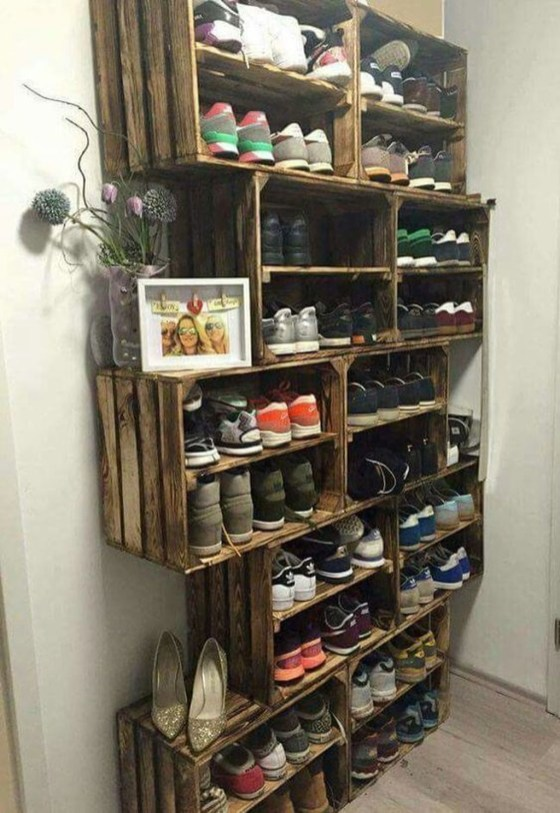 Creative Diy Industrial Shoe Rack Ideas 42