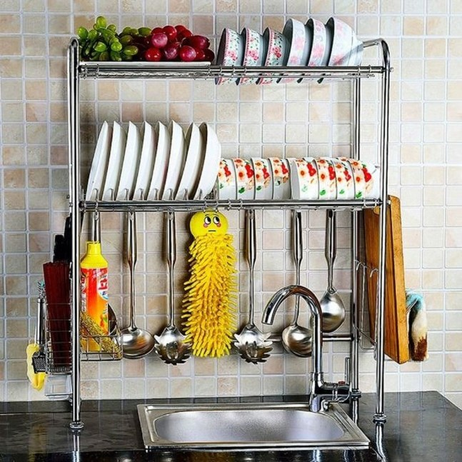 Small And Creative Dish Racks And Drainers Ideas37