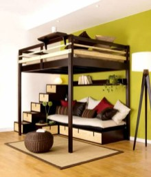 Totally Cool Tiny Apartment Loft Space Ideas 47