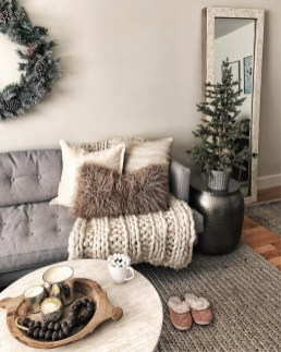 Best Winter Living Room Decoration Ideas 32