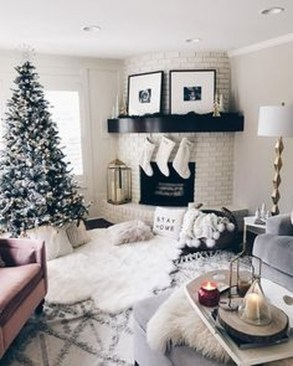 Best Winter Living Room Decoration Ideas 36